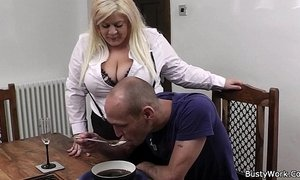 bbw  blonde mature  boss  lady  stockings