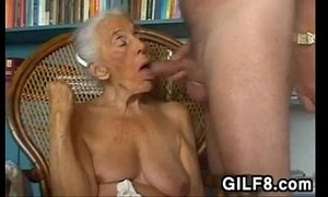 blowjob  grandma  naughty older woman