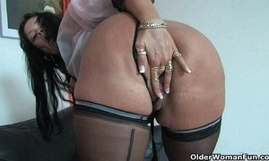 old granny solo stockings