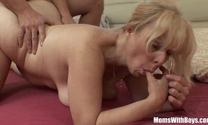 anal  blonde mature  bouncing juggs  fuck  step son  stepmother
