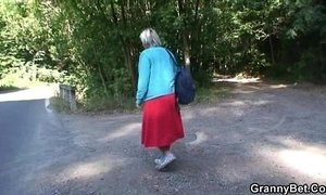 bitch  granny  old cunt  outdoor sex