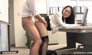 asian moms  lady  office