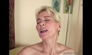 cum on milf  dick  grandma  old granny  young