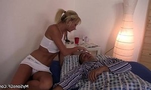 blonde mature  cheating  father  young and old