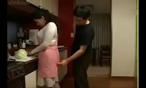 asian moms  fuck  japanese moms  kitchen  mom  son and mommy