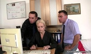 blonde mature  dudes  office  old cunt  sharing  young