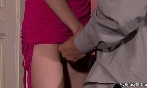 blonde mature  cheating  grandpa  young and old